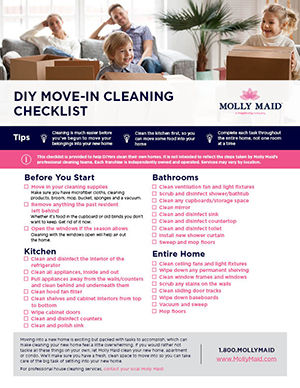 DIY Move-In Cleaning Checklist