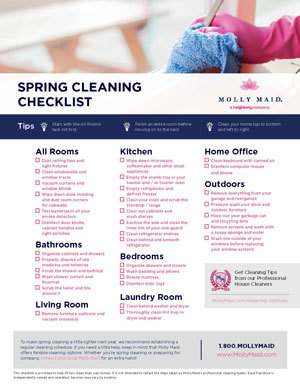 Spring Cleaning List | Spring Cleaning Checklist Printable