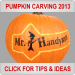 Pumpkin Carving Ideas from Mr. Handyman