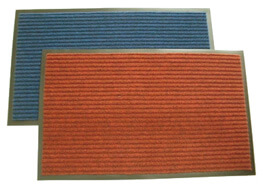 two different colored floor mats