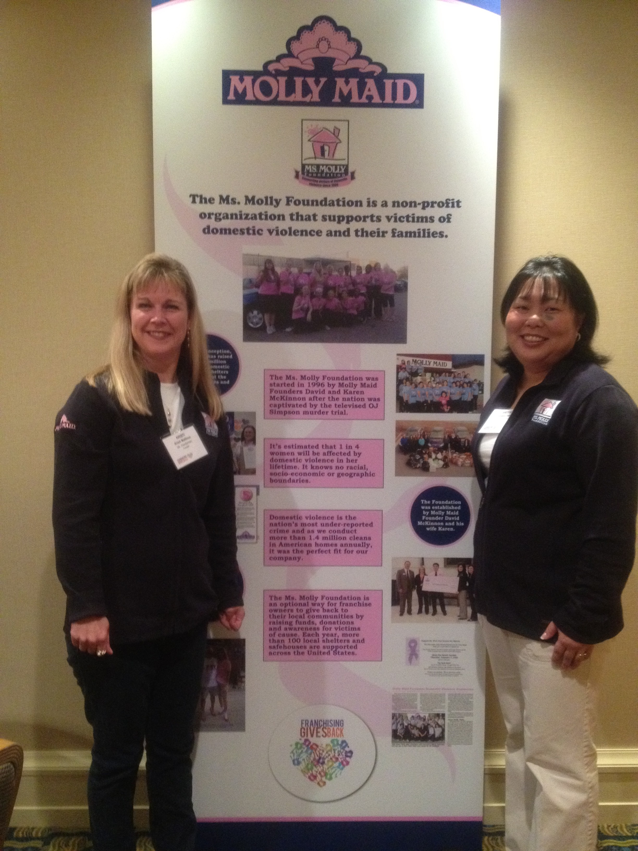 Kristi Mailloux and Danessa Itaya represented the Ms. Molly Foundation at the 2012 IFA Franchising Gives Back event.