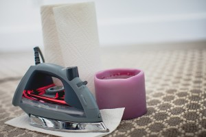 remove wax from carpet