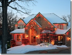 House Deocorated for the Holidays