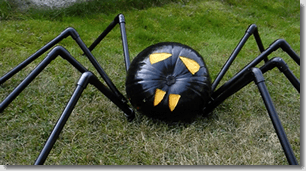 Pumpkin Spider made with PVC Pipe