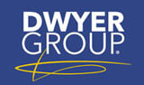 Dwyer Group graphic with yellow scribble