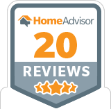 HomeAdvisor 20 Reviews Badge